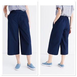 Madewell Mayfield Culotte Pants Navy Sz XS